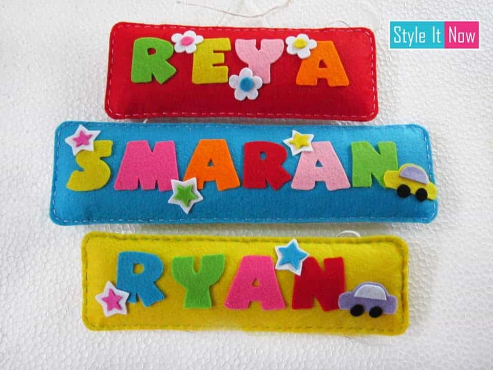 Personalized Felt Name Board