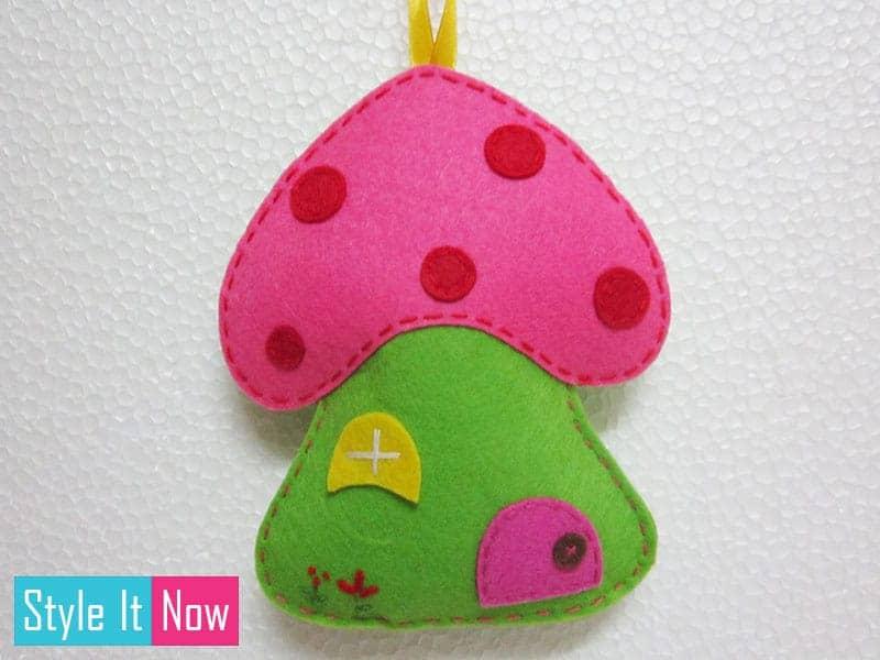 Small-Mushroom-House-Felt-Wall-Hanging