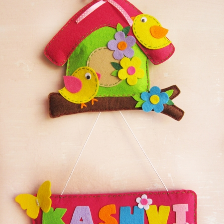 Bird House Name Hanging