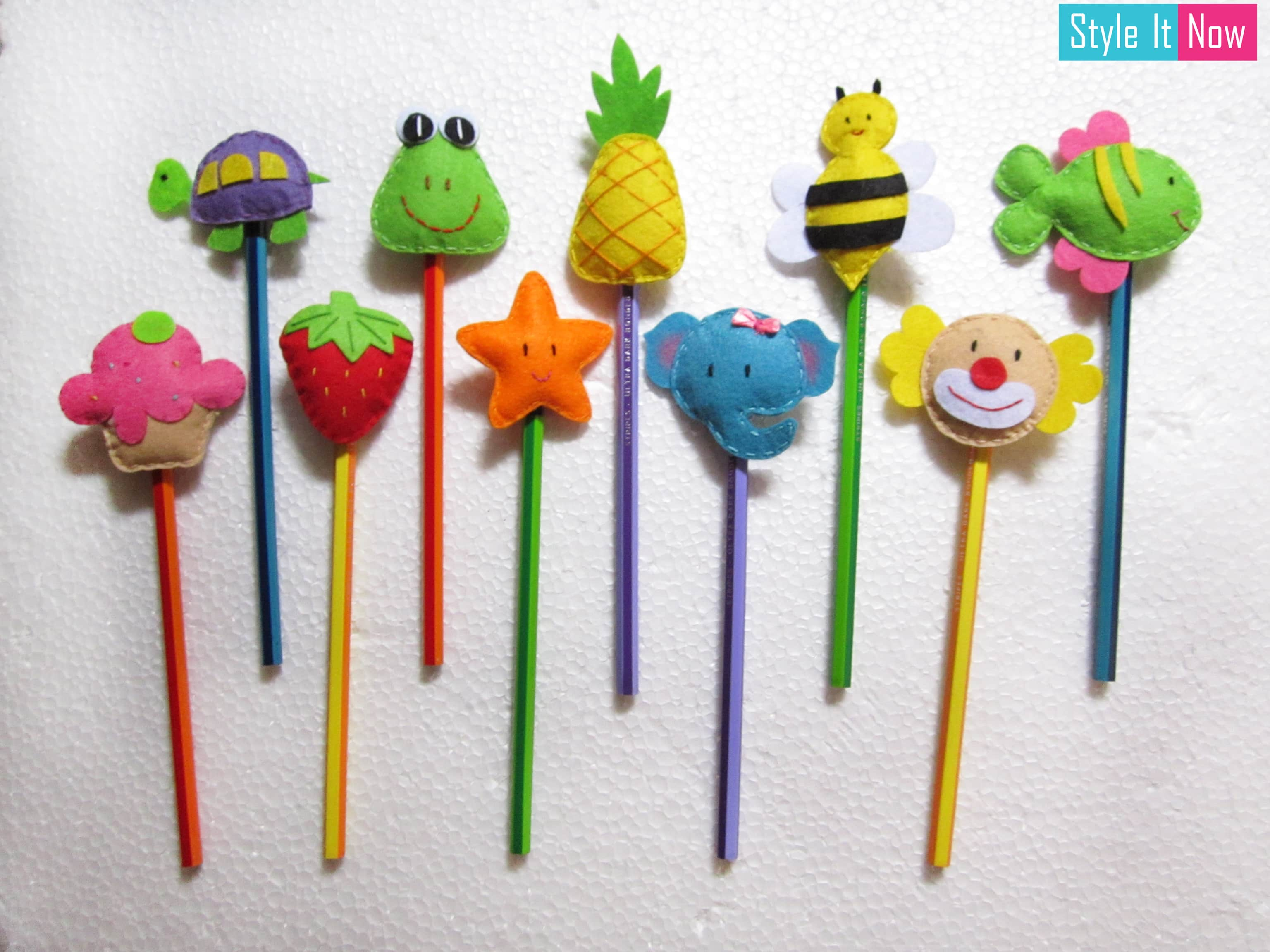 Felt Pencil Toppers Set Of 3 Style It Now
