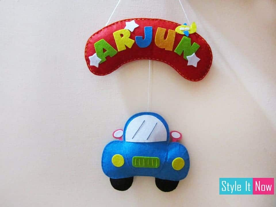 Personalized Car Name Board Hanging