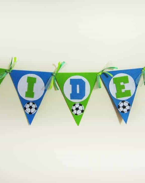 Personalized Football Theme Felt Name Banner2