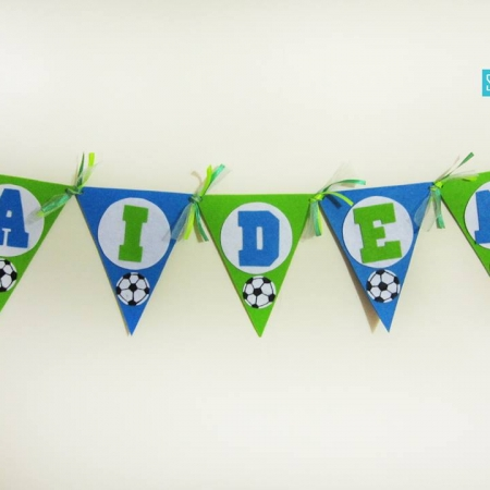 Personalized Football Theme Felt Name Banner