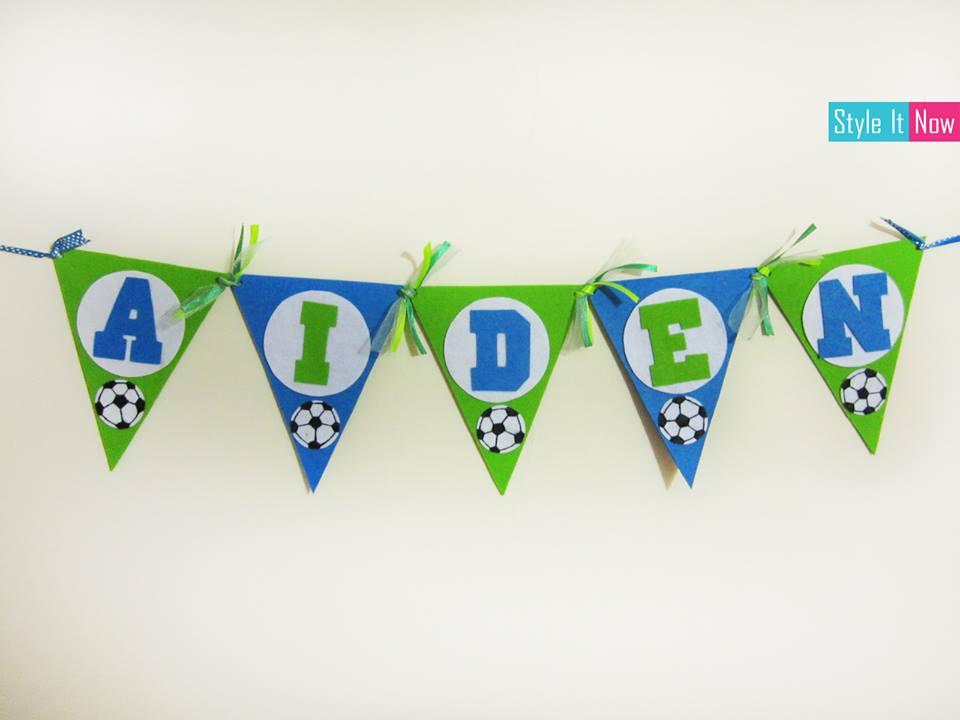 personalized football theme felt name banner style it now