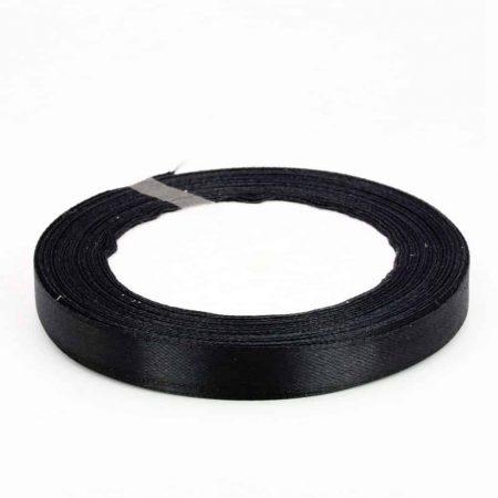 Black 6mm satin ribbon 10 meter