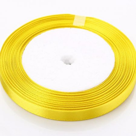 Yellow 6mm satin ribbon 10 meter
