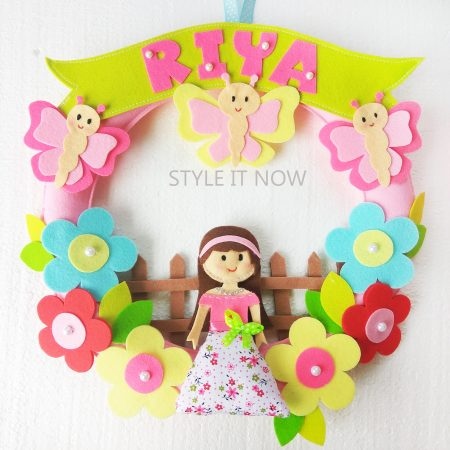 Personalized Felt Name Wreaths